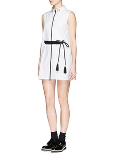 CYNTHIA & XIAO Braided paracord belt sleeveless shirtdress
