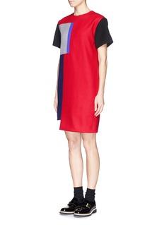 CYNTHIA & XIAOBoxy patchwork dress