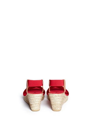 Back View - Click To Enlarge - SARAH SUMMER - Elastic band espadrille wedge sandals