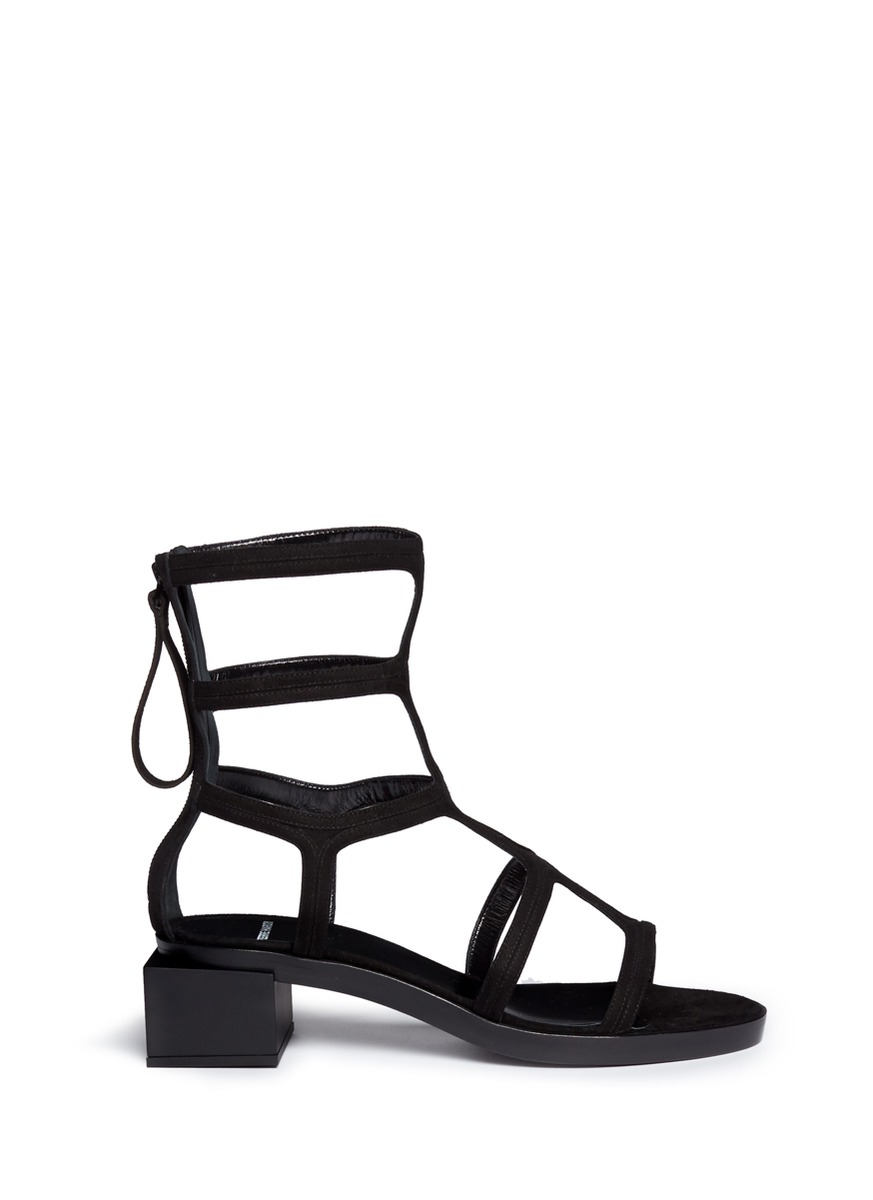 Pierre Hardy - Block Heel Suede Gladiator Sandals | Women | Lane