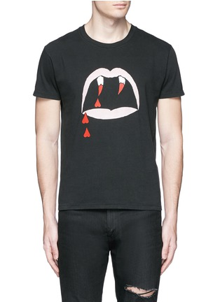 Saint Laurent - 'Blood Luster' print cotton T-shirt