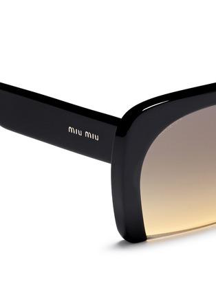 Detail View - Click To Enlarge - miu miu - 'Rasoir' Half rim acetate sunglasses