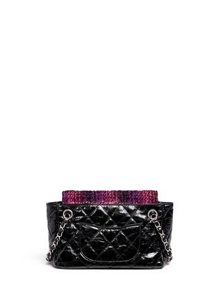 Back View - Click To Enlarge - Vintage Chanel - Tweed flap quilted leather shoulder bag