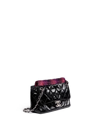 Figure View - Click To Enlarge - Vintage Chanel - Tweed flap quilted leather shoulder bag
