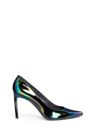 Main View - Click To Enlarge - Stuart Weitzman - 'Heist' holographic patent leather pumps
