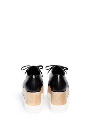 背面 - 点击放大 - STELLA MCCARTNEY - BRITT人造皮革厚底系带鞋