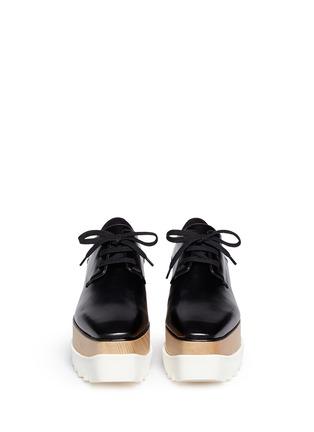正面 -点击放大 - STELLA MCCARTNEY - BRITT人造皮革厚底系带鞋