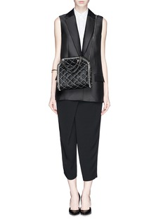 STELLA MCCARTNEY'Falabella' mini quilted two-way chain tote