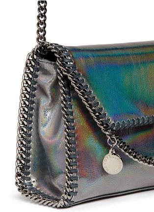 Detail View - Click To Enlarge - Stella McCartney - 'Falabella' mini holographic cracklé chain bag