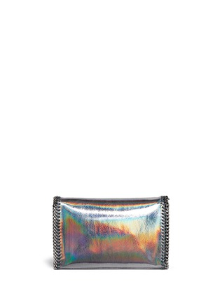 Back View - Click To Enlarge - Stella McCartney - 'Falabella' mini holographic cracklé chain bag