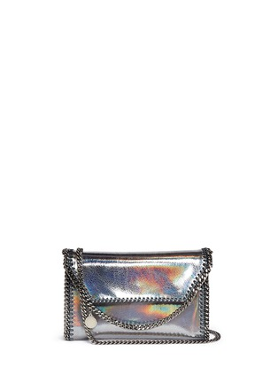 Main View - Click To Enlarge - Stella McCartney - 'Falabella' mini holographic cracklé chain bag