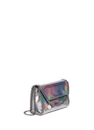 Figure View - Click To Enlarge - Stella McCartney - 'Falabella' mini holographic cracklé chain bag