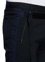 'Peche' belted cotton shorts