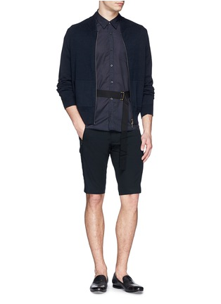 Figure View - Click To Enlarge - Dries Van Noten - 'Peche' belted cotton shorts