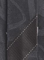 Swirly jacquard silk tie