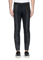 'Palmer' jacquard quilted leg cropped pants