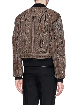 Back View - Click To Enlarge - Dries Van Noten - 'Vinny' rope embroidery cotton bomber jacket