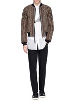 'Vinny' rope embroidery cotton bomber jacket