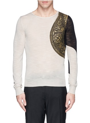 Main View - Click To Enlarge - Dries Van Noten - 'Napoleon' harness sweater
