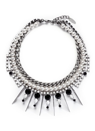 Main View - Click To Enlarge - Joomi Lim - 'High Society' faux pearl crystal necklace