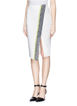 Front View - Click To Enlarge - Elizabeth and James - 'Bradshaw' asymmetric split pencil skirt