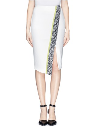 Main View - Click To Enlarge - Elizabeth and James - 'Bradshaw' asymmetric split pencil skirt