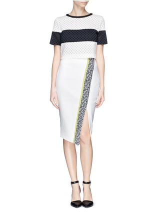 Figure View - Click To Enlarge - Elizabeth and James - 'Bradshaw' asymmetric split pencil skirt
