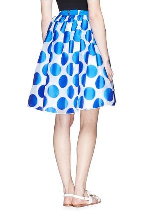 Back View - Click To Enlarge - alice + olivia - 'Camille' polka dot dip hem pouf skirt