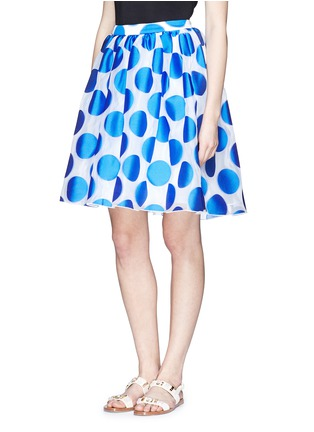Front View - Click To Enlarge - alice + olivia - 'Camille' polka dot dip hem pouf skirt