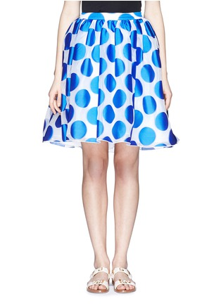 Main View - Click To Enlarge - alice + olivia - 'Camille' polka dot dip hem pouf skirt