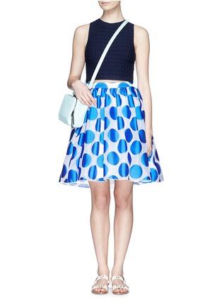 Figure View - Click To Enlarge - alice + olivia - 'Camille' polka dot dip hem pouf skirt