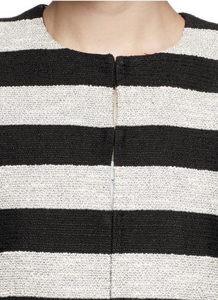 Detail View - Click To Enlarge - alice + olivia - 'Kidman' metallic stripe box jacket