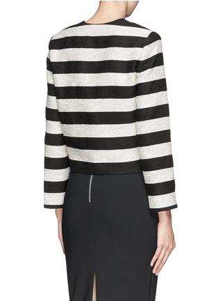 Back View - Click To Enlarge - alice + olivia - 'Kidman' metallic stripe box jacket