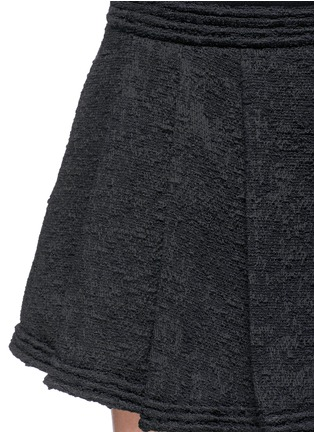Detail View - Click To Enlarge - Proenza Schouler - Bouclé tweed pleat flare skirt