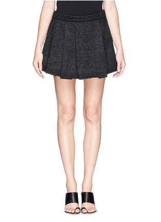 Main View - Click To Enlarge - Proenza Schouler - Bouclé tweed pleat flare skirt