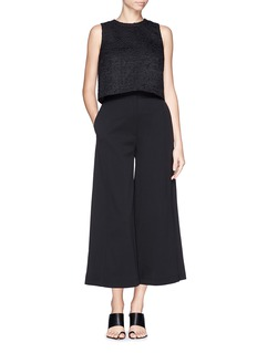 Proenza Schouler Cropped wide leg wool pants