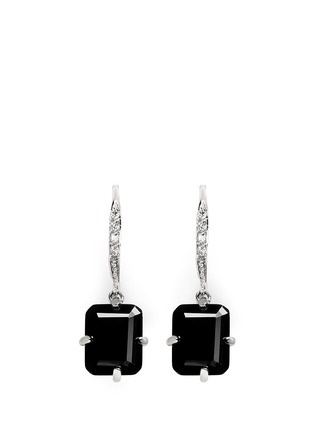 Main View - Click To Enlarge - CZ by Kenneth Jay Lane - Pavé baguette cut dangle earrings