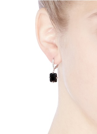Figure View - Click To Enlarge - CZ by Kenneth Jay Lane - Pavé baguette cut dangle earrings
