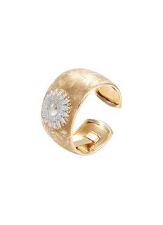 Buccellati Watches 'Anthochron Bellis' diamond 18k yellow gold floral cuff watch