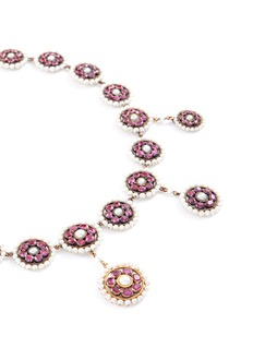 LC Collection Ruby pearl disc choker