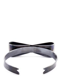 Delfina Delettrez'Papillon' black gold silver bow cuff