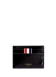 Thom Browne Whale embroidered leather card holder