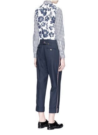 Figure View - Click To Enlarge - Thom Browne - Funmix gingham and floral cotton poplin shirt