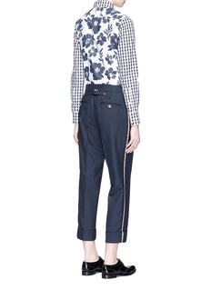 Thom BrowneFunmix gingham and floral cotton poplin shirt