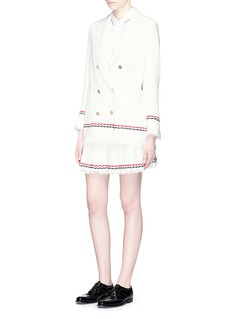 Thom Browne Frayed tweed pleated skirt