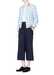 Thom BrowneDaisy appliqué cotton piqué bomber jacket