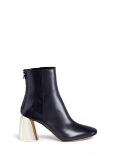 Ellery'Jezebels' metallic dome heel leather boots