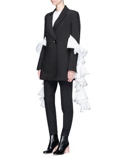Ellery'Maneater' contrast ruffle crepe blazer