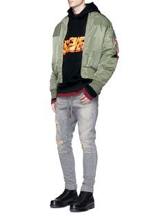 Studio Seven'Fire' print hoodie