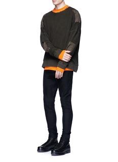 Studio SevenRaw edge crew neck sweater